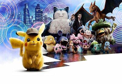 Canvas Pictures Detective Pikachu Top Children Cartoon Movie Poster Pokemon
