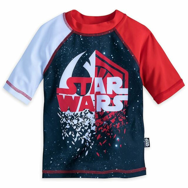 Boys Star Wars Rash Guard Red-XS