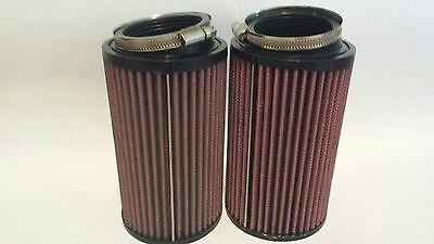 "Yamaha Banshee K/&N Style Drag Air Filter Set Filters 10/"" /& Pre Outerwears Pair"