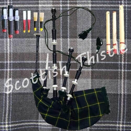 Highland Dudelsack Schwarze Farbe Halb Set mit Lehrmeister Buch // Gaita
