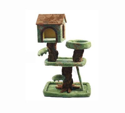 100CM Cat Scratcher Scratching Post Pole Jungle Tree House 74cm x 52cm x 103.5cm