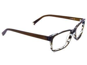 e2cf6fb747 Warby Parker Eyeglasses Theo 141 Blue Marble Wood Horn Rim Frame 51 ...