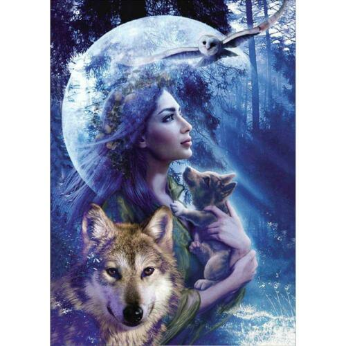 5D DIY Diamond Painting Animals Cross Stitch Embroidery Rhinestones Mosaic Kits