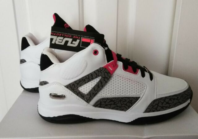 fa678d9463351c Fubu The Collection Men's Athletics Basket- Reed 3 Red White Sneakers  Size:10.5