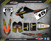 Ktm Exc 2017 Custom Graphics Kit Factory Style Decals / Stickers
