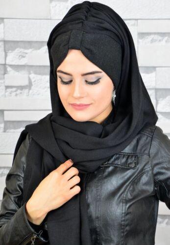 Bd59 fini foulard Hazir Bandana türban esarp Sal Tesettür Hijab Khimar