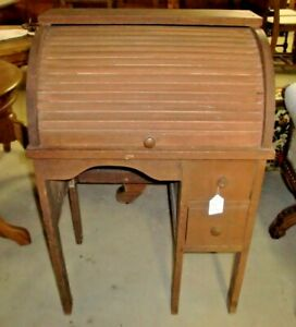 Antique-Child-Size-Roll-Top-Desk
