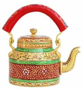 Indian Traditional Aluminium Colorful Decorative Hand Painted Tea