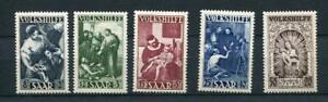 Germany/SAAR 1949 MNH Sc B69-73. Michel 267-1. Semi Postal SCV $95 ID 200