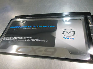 image is loading new oem mazda cx 9 polished license plate