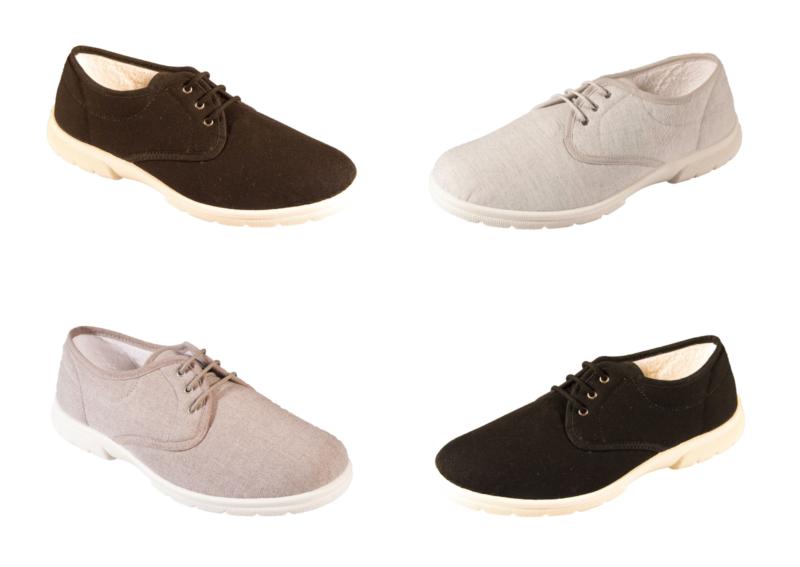 Herren Db Shoes Troon Schnürer Extra Breit Leinen Sommer Schuhe Breite 4e/6e