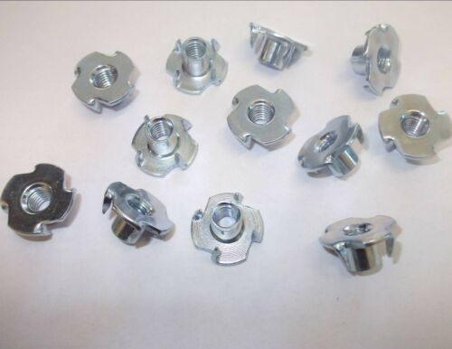 M5 x 8.0mm Length Tee Nuts Four pronged threaded captive inserts.