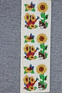 Vintage Sandy Lion ~ Sunflowers Stickers ~ 1 Sheet ~ Sealed Package