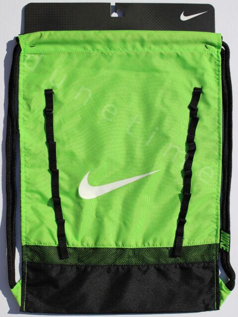 2f1c1208edd0 Nike Brasilia 7 Gym Sack Drawstring Backpack Ba5079 313 Lime Green