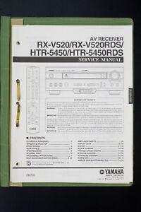 original yamaha rx v520 htr 5450 av receiver service manual wiring rh ebay com yamaha htr 5250 manual yamaha htr-5450 service manual