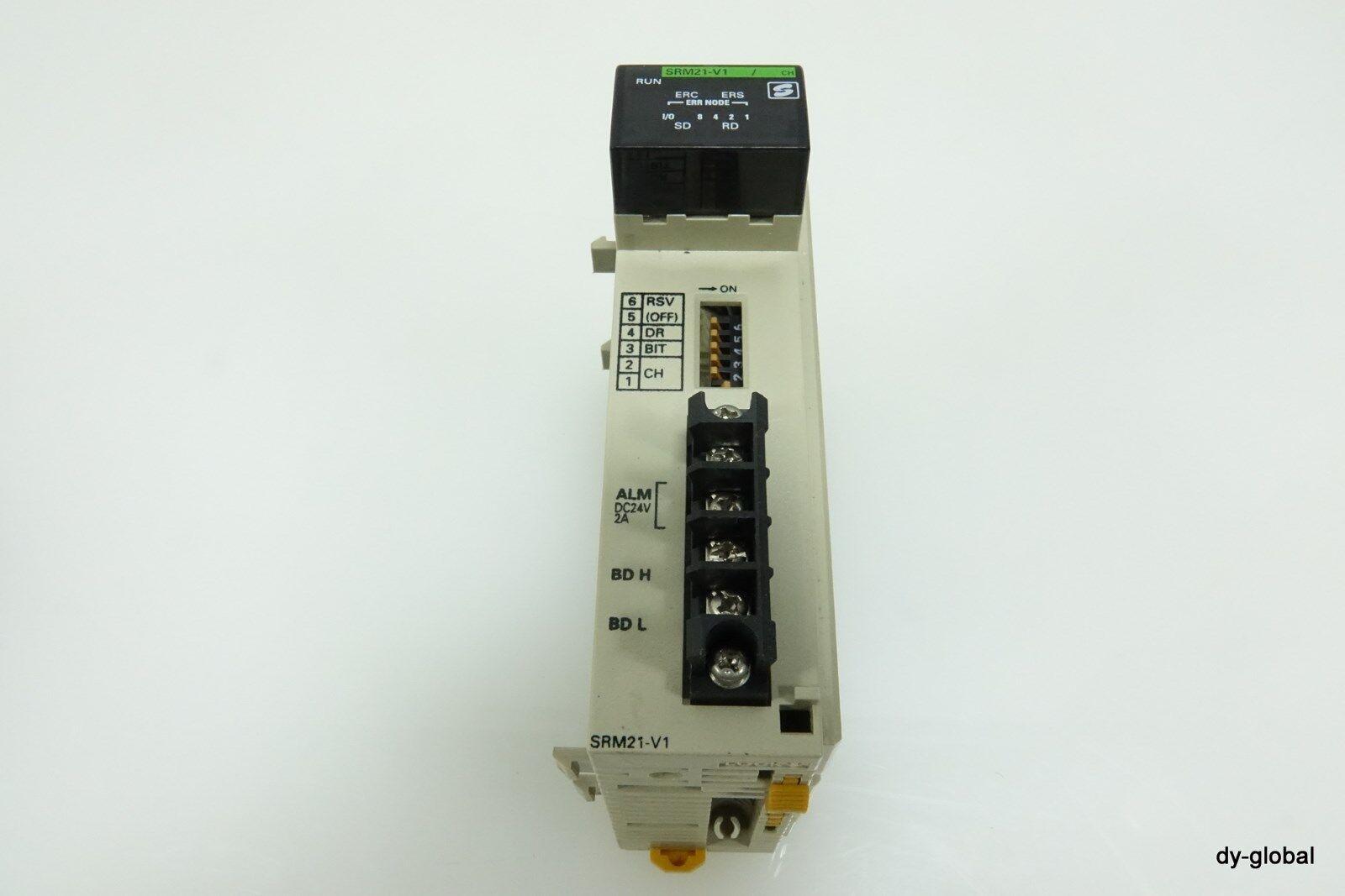 OMRON Used CQM1-SRM21-V1 COMPOBUS S MASTER UNIT Cover Missing PLC-I-445=2I27
