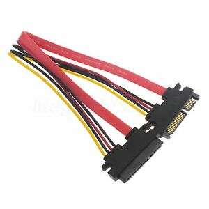 50-cm-22P-7-15Pin-M-F-Serial-ATA-SATA-Data-Power-Combo-Extension-Cable-Cord-NEW