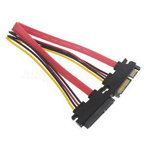 50-cm-22P-7-15Pin-M-F-Serial-ATA-SATA-Data-Power-Combo-Extension-Cable-Cord-NEW
