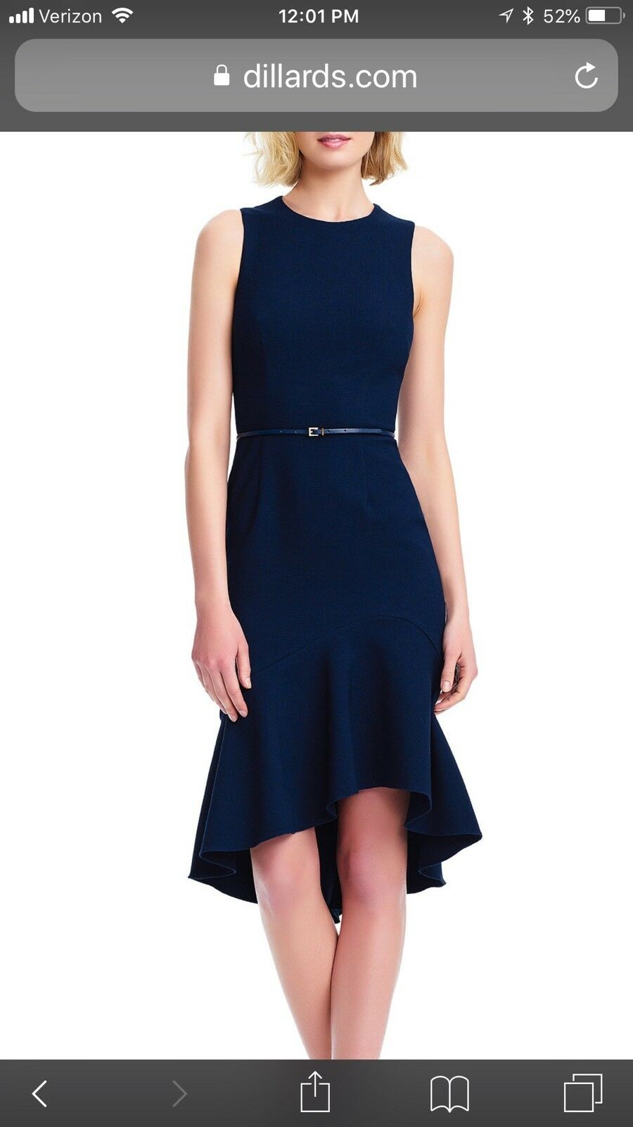 ADRAINANA PAPELL DRESS NAVY HIGH LOW DRESS Größe 22W RETAIL NEW WITH TAG