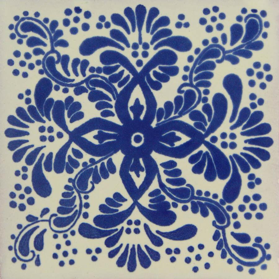 100 Mexican Talavera Decorative Handmade Tiles Folk Art C171