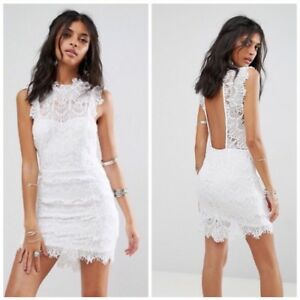 689ac3d57d2 Image is loading NWT-Free-People-Daydream-Bodycon-White-Lace-Dress-