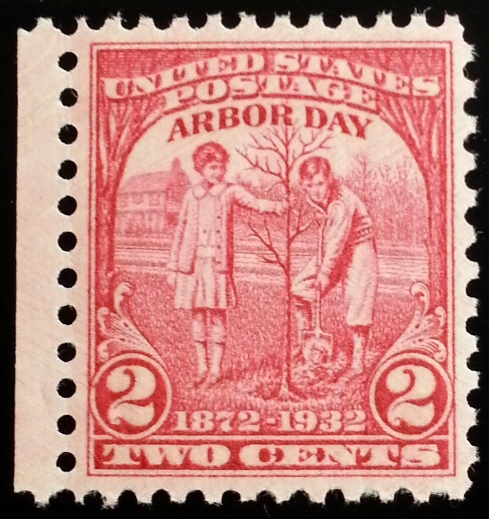 1932 2c Arbor Day, 60th Anniversary Scott 717 Mint F/VF