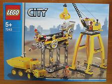 Lego 7243 Construction site, crane, rare set, brand new in sealed box