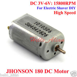 johnson 180 dc motor dc 6v 15800rpm high speed 2mm