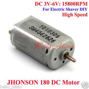 Johnson 180 dc motor dc 6v 15800rpm high speed 2mm for Dc motors car sales