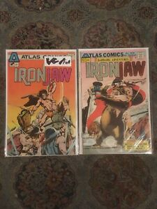 Iron-Jaw-1-VG-FN-amp-2-FN-1975-Lot-of-2-Atlas-Comics
