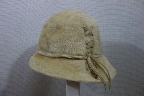 Vintage Connie Mae-FAUX FUR  Dress Hat BUCKET HAT