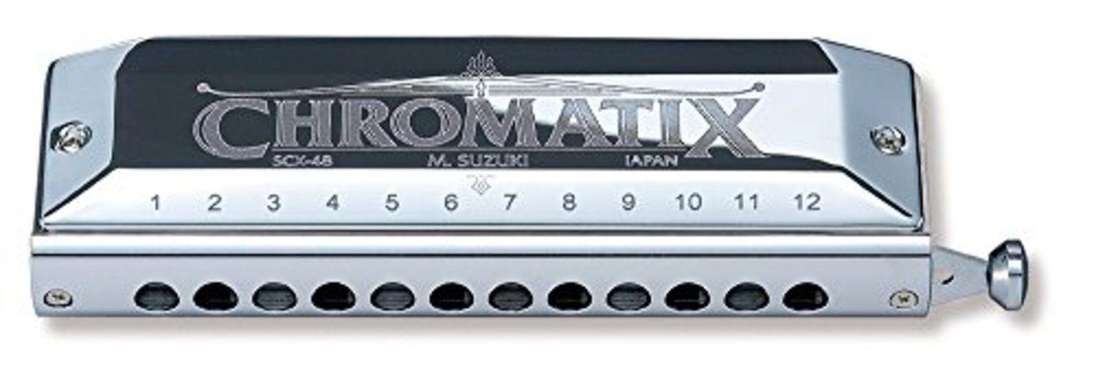 Suzuki Mundharmonika Chromatix Scx48 12 Loch C-Dur 48 Sounds F S W Abtastung