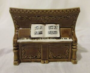 Image Is Loading Vintage Relpo Piano Planter Music Box Orig Gold
