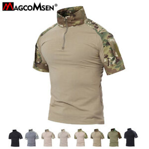 Mens-Moisture-Wicking-T-Shirt-Tactical-Combat-Shirt-Military-Army-TOP-Tee-Shirts