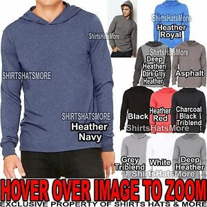 Canvas-MENS-Long-Sleeve-Hooded-T-Shirt-Hoodie-XS-S-M-L-XL-2XL-NEW