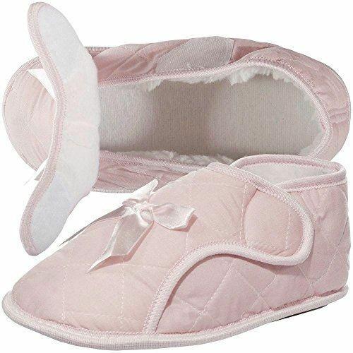 Womens Edema Slippers for Swollen Feet Pink XL