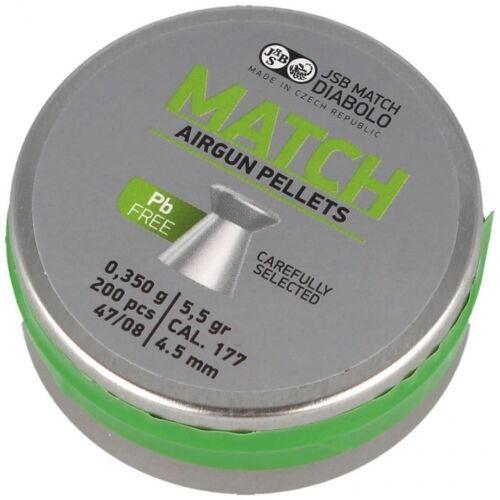 200pcs 0.350 g 5.5 grains lead free Pb free JSB Match M 47//08 4.5 mm .177 cal
