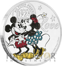 2017 DISNEY LOVE - MICKEY MOUSE & MINNIE MOUSE - TRUE LOVE - 1 OZ. SILVER COIN