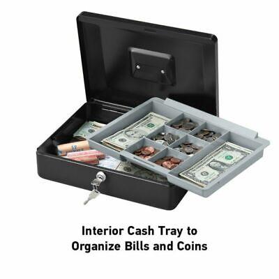 Safe Security Box Fireproof Lock Cash Money Tray Medium Jewelry Storage Case USA