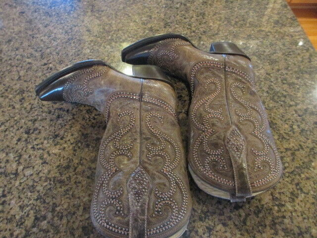 Corral western Womens 6.5 Distressed Studded Overlay Cowgirl Cowgirl Cowgirl Boot Snip Toe G1267 427015