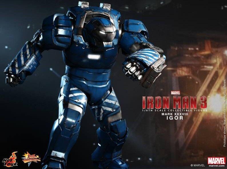 Iron Man 3-Igor Mark 38 16th Escala Figura de Acción MMS215 (Hot Toys) NEW
