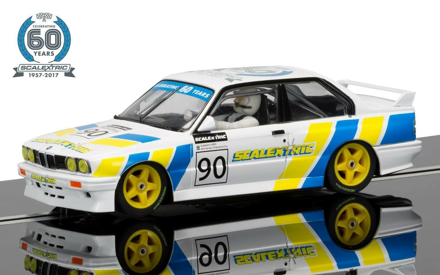 Scalextric C3829A BMW E30 M3 Limited Edition, 60th Anniversary collection, mint