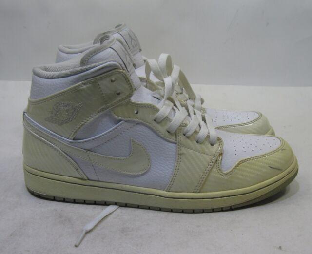 Nike Air Jordan 1 hat White Wolf Grey Carbon Fiber 364770-102 Size 11.5 15ea566d4