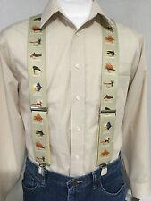 "New, Men's, Flies on Khaki, XL, 2"", Adj. Suspenders / Braces, Made in  the USA"