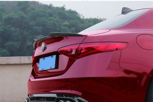 FOR 2017-2018 ALFA ROMEO GIULIA PAINTED REAR SPOILER ANY COLOR NO DRILLING