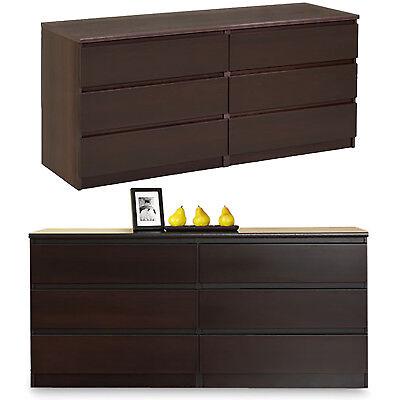 Coffee Tvilum Naia 6 Drawer Double Dresser