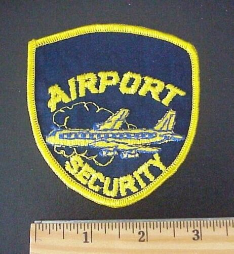 VINTAGE AIRPORT SECURITY EMBROIDERED JET AIRPLANE POLICE PATCH