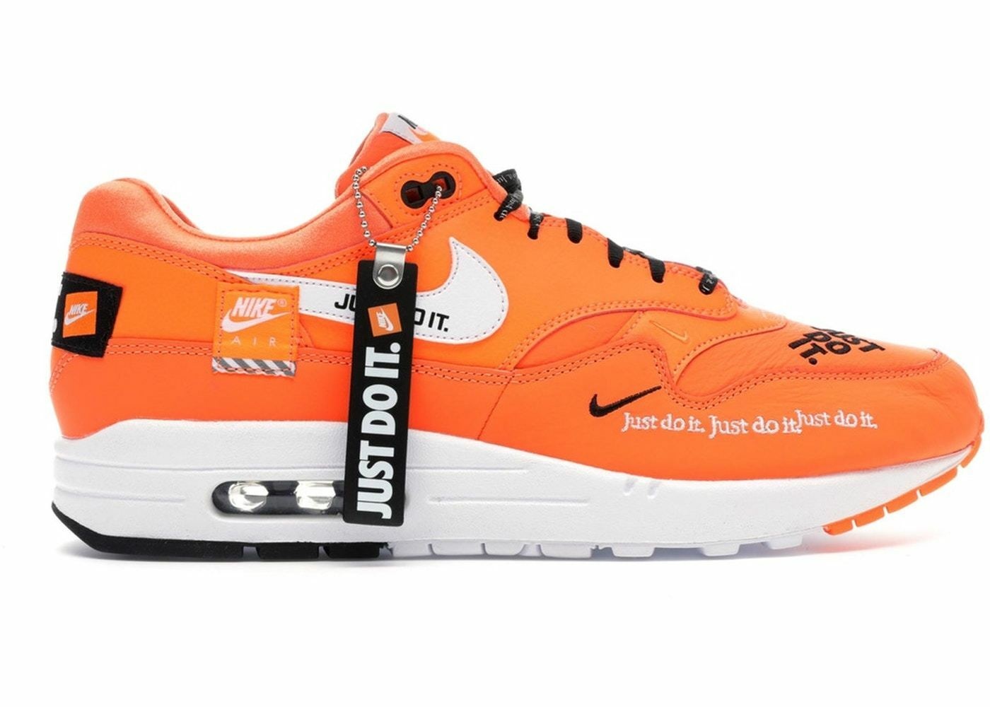 Men's Nike Air Max 1 SE Just Do It Athletic Fashion Sneakers AO1021 800 Orange