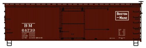 HO Scale Sheath Wood Boxcar # 64739 KIT ACCURAIL 1407 BOSTON /& MAINE 36/' DBL