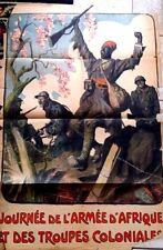 WW1 Original Poster Journée De L'Armée D'Afrique Et Des Troupes Coloniales Paris